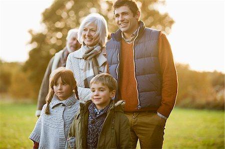 Family walking together in park Stock Photo - Premium Royalty-Free, Code: 6113-06721155