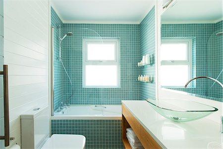 shower - Modern bathroom Stock Photo - Premium Royalty-Free, Code: 6113-06898666
