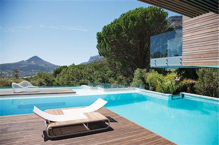 pool - Luxury swimming pool with mountain view Stock Photo - Premium Royalty-Free, Code: 6113-06898830