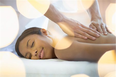 Woman receiving massage Stock Photo - Premium Royalty-Free, Code: 6113-07147348