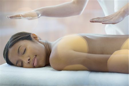Woman receiving massage in spa Stock Photo - Premium Royalty-Free, Code: 6113-07147432