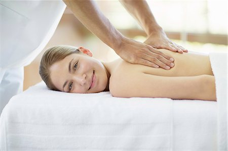 Woman having massage in spa Stock Photo - Premium Royalty-Free, Code: 6113-07147438
