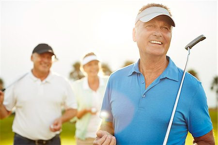 senior women - Senior adults on golf course Stock Photo - Premium Royalty-Free, Code: 6113-07159189
