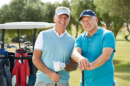 Senior men on golf course Stock Photo - Premium Royalty-Free, Code: 6113-07159298