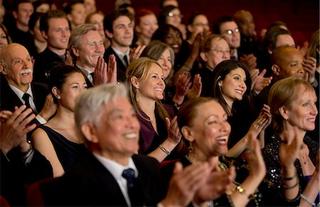 Clapping theater audience Stock Photo - Premium Royalty-Free, Code: 6113-07159357