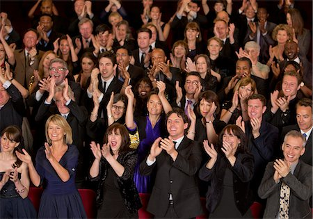 Clapping theater audience Stock Photo - Premium Royalty-Free, Code: 6113-07159369