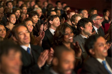 Clapping theater audience Stock Photo - Premium Royalty-Free, Code: 6113-07159377