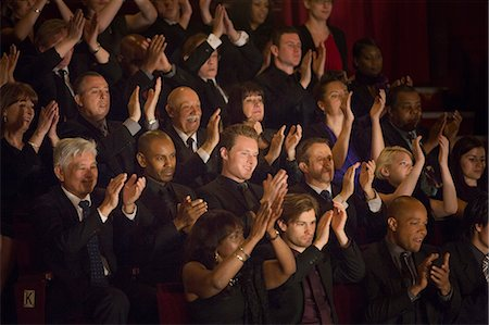 Clapping theater audience Stock Photo - Premium Royalty-Free, Code: 6113-07160127