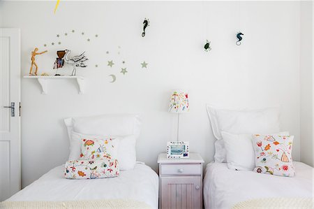 Wall decorations in childs bedroom Stock Photo - Premium Royalty-Free, Code: 6113-07160800