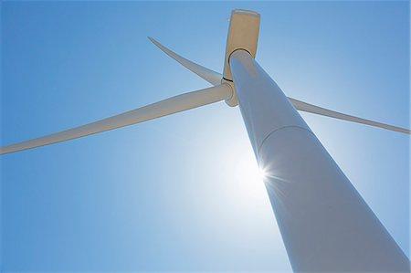 Low angle view of wind turbine Stock Photo - Premium Royalty-Free, Code: 6113-07160958