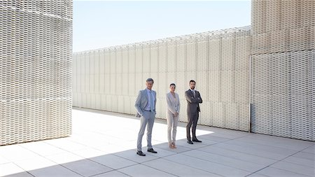 partnership - Business people standing outdoors Stock Photo - Premium Royalty-Free, Code: 6113-07242157