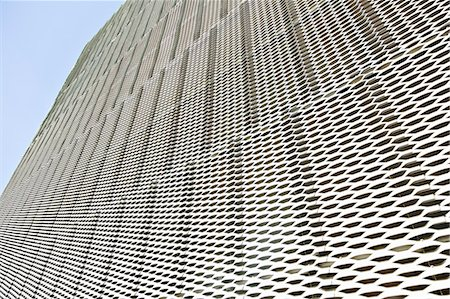 Close up of textured wall on modern building Stock Photo - Premium Royalty-Free, Code: 6113-07242253