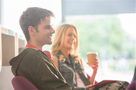 school - University students laughing in lounge Stock Photo - Premium Royalty-Free, Code: 6113-07243411