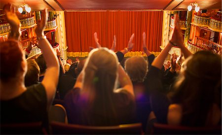 Audience clapping in theater Stock Photo - Premium Royalty-Free, Code: 6113-07542950