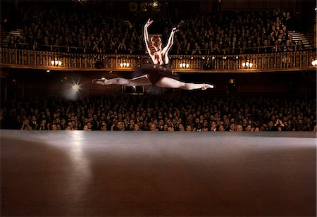 Ballet dancer performing on theater stage Stock Photo - Premium Royalty-Free, Code: 6113-07542907