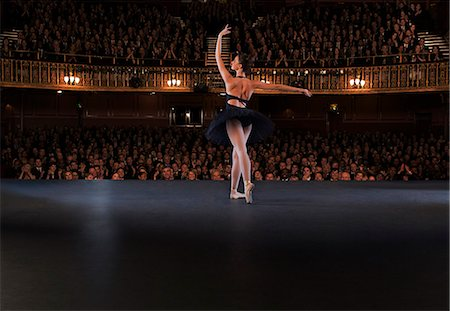 Ballet dancer performing on theater stage Stock Photo - Premium Royalty-Free, Code: 6113-07542908