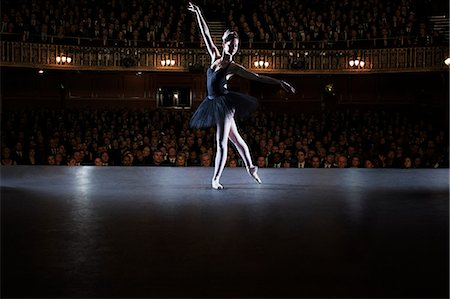 Ballet dancer performing on stage in theater Stock Photo - Premium Royalty-Free, Code: 6113-07542918