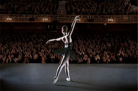 Ballerina performing on stage in theater Stock Photo - Premium Royalty-Free, Code: 6113-07542930