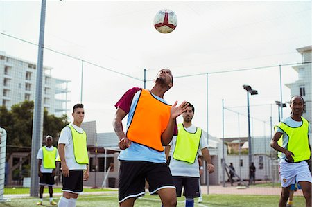 Soccer players training on field Stock Photo - Premium Royalty-Free, Code: 6113-07543115