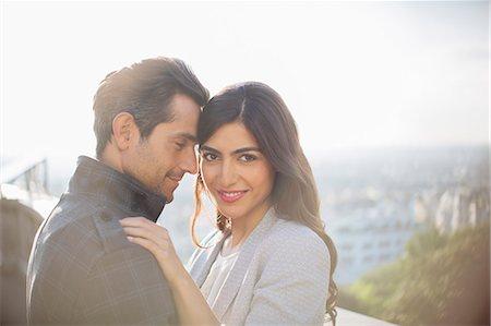 romanticism - Couple hugging outdoors Stock Photo - Premium Royalty-Free, Code: 6113-07543621