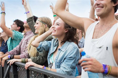 Fans cheering at music festival Stock Photo - Premium Royalty-Free, Code: 6113-07564748