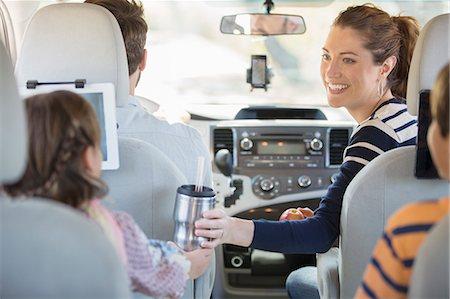 Family inside car Stock Photo - Premium Royalty-Free, Code: 6113-07565099