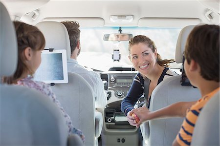 road trip - Family inside of car Stock Photo - Premium Royalty-Free, Code: 6113-07565006