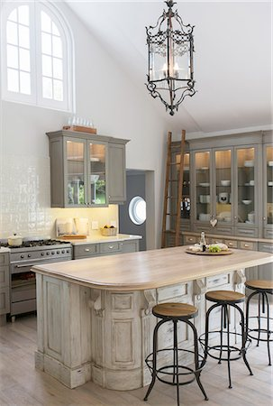 Luxury kitchen Stock Photo - Premium Royalty-Free, Code: 6113-07565261