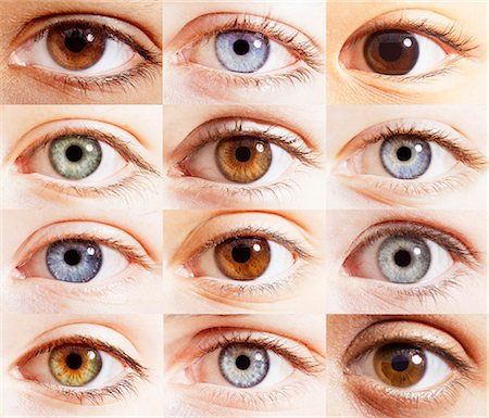Extreme close up of digital composite of eyes Stock Photo - Premium Royalty-Free, Code: 6113-07565276
