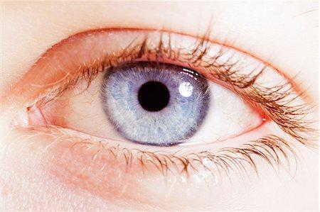 Extreme close up of blue eye Stock Photo - Premium Royalty-Free, Code: 6113-07565294