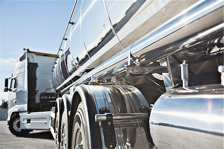 Stainless steel milk tanker Stock Photo - Premium Royalty-Free, Code: 6113-07565392