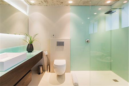 Modern bathroom Stock Photo - Premium Royalty-Free, Code: 6113-07565667