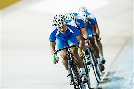 Track cycling team riding in velodrome Stock Photo - Premium Royalty-Free, Code: 6113-07588755