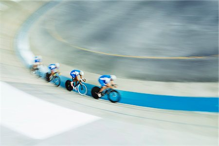 Track cycling team racing in velodrome Stock Photo - Premium Royalty-Free, Code: 6113-07588799