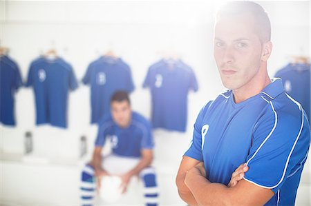 soccer player (male) - Soccer player standing in locker room Stock Photo - Premium Royalty-Free, Code: 6113-07588885
