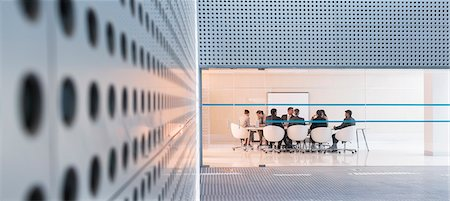 Business people at conference room in modern building Stock Photo - Premium Royalty-Free, Code: 6113-07588891