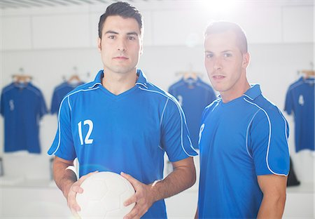 Soccer players standing in locker room Stock Photo - Premium Royalty-Free, Code: 6113-07588822