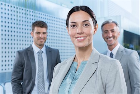 Portrait of confident business people outdoors Stock Photo - Premium Royalty-Free, Code: 6113-07588982