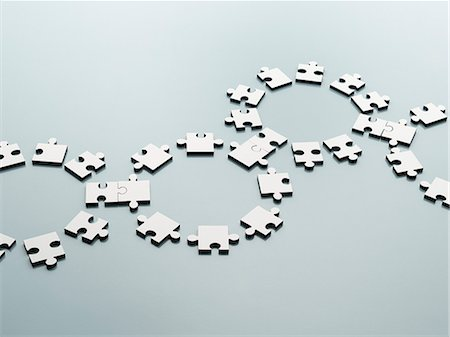 Connected jigsaw pieces Stock Photo - Premium Royalty-Free, Code: 6113-07589122