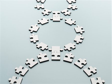 Connected jigsaw pieces Stock Photo - Premium Royalty-Free, Code: 6113-07589124