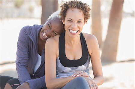 Women laughing outdoors Stock Photo - Premium Royalty-Free, Code: 6113-07589350
