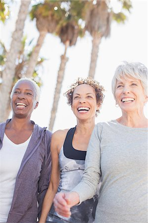 Senior women power walking outdoors Stock Photo - Premium Royalty-Free, Code: 6113-07589439