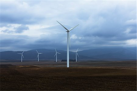 Wind farm in valley, Andaluc'a, Spain Stock Photo - Premium Royalty-Free, Code: 6113-07589507