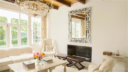 property release - Luxury living room Stock Photo - Premium Royalty-Free, Code: 6113-07589657