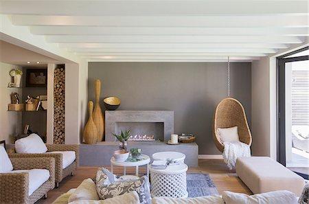 Luxury living room Stock Photo - Premium Royalty-Free, Code: 6113-07589714