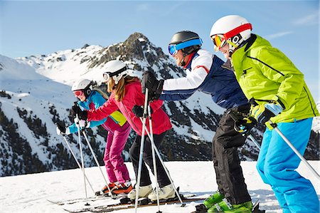 Family skiing together Stock Photo - Premium Royalty-Free, Code: 6113-07790720