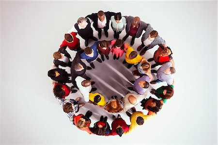 Business people in circle Stock Photo - Premium Royalty-Free, Code: 6113-07730672