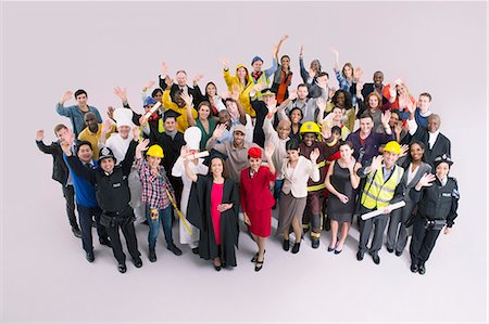 Portrait of diverse workforce Stock Photo - Premium Royalty-Free, Code: 6113-07730692