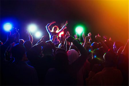 Audience enjoying music concert Stock Photo - Premium Royalty-Free, Code: 6113-07730623
