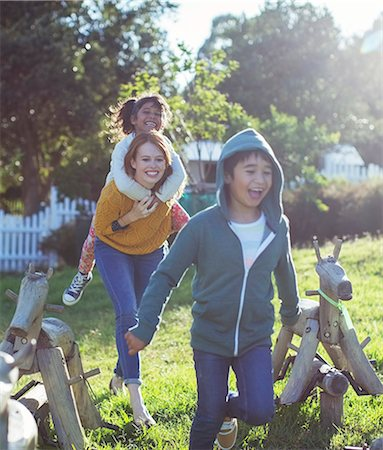 filipino ethnicity - Students and teacher walking outdoors Stock Photo - Premium Royalty-Free, Code: 6113-07731178